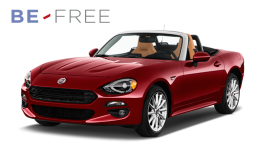 FIAT 124 SPIDER 1.4 Multi Air 140cv At6 Lusso BE FREE BASE rossa fronte