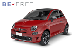 FIAT 500 1.2 69cv Lounge BE FREE PLUS rossa fronte