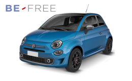 FIAT 500 1.2 69cv Pop BE FREE PLUS azzurra fronte