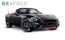 ABARTH 124 SPIDER 1.4 Turbo MultiAir 170cv BE FREE PLUS Nera Rossa Fronte