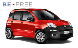 FIAT PANDA VAN 1.3 Mjt BE FREE PRO BASE rossa fronte