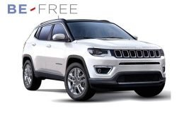 JEEP COMPASS 17 1.6 Mjet 88kw Limited BE FREE PRO BASE bianca fronte