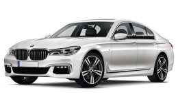 BMW SERIE 7 740e Eccelsa Bianca Fronte