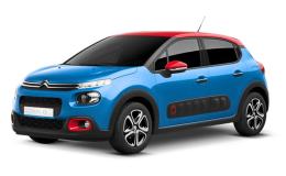 CITROEN C3 16 Bluehdi 100 S&sShine Rosso-Blu Fronte