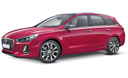 HYUNDAI i30 SW 1.6 Crdi 136cv Dct Style rossa fronte