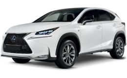 LEXUS NX Hybrid Luxury 4wd bianca fronte