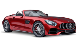MERCEDES AMG GT Roadster rossa fronte