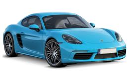 Porsche 718 Cayman S Azzurra Fronte