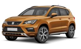 SEAT ATECA 2.0 Tdi 140kw Xcellence 4drive Dsg arancio fronte