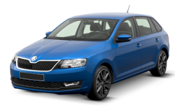 SKODA RAPID 1.4 Tdi Cr 66kw Dsg Design Edition blu fronte