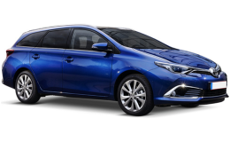 TOYOTA AURIS SW Hybrid Lounge Touring Sports blu fronte