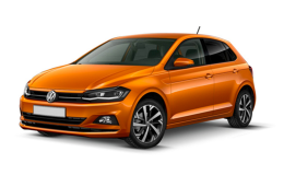 VOLKSWAGEN POLO 1.0 Tgi Business Highline Bmt arancio fronte
