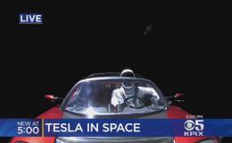 news una tesla nello spazio space x e tesla roadster